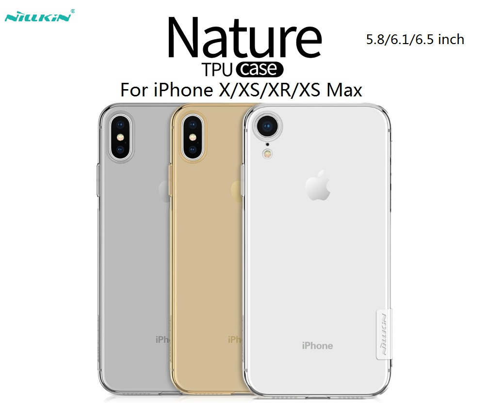 Transparent Case For IPhone X/XS/XR/XS MAX Case Thin Clear TPU Silicone Protective Sleeve
