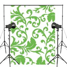 Classic Style Photography Backdrops 5x7ft/150X210cm Green Floral Pattern Background Baby Photo Studio Props