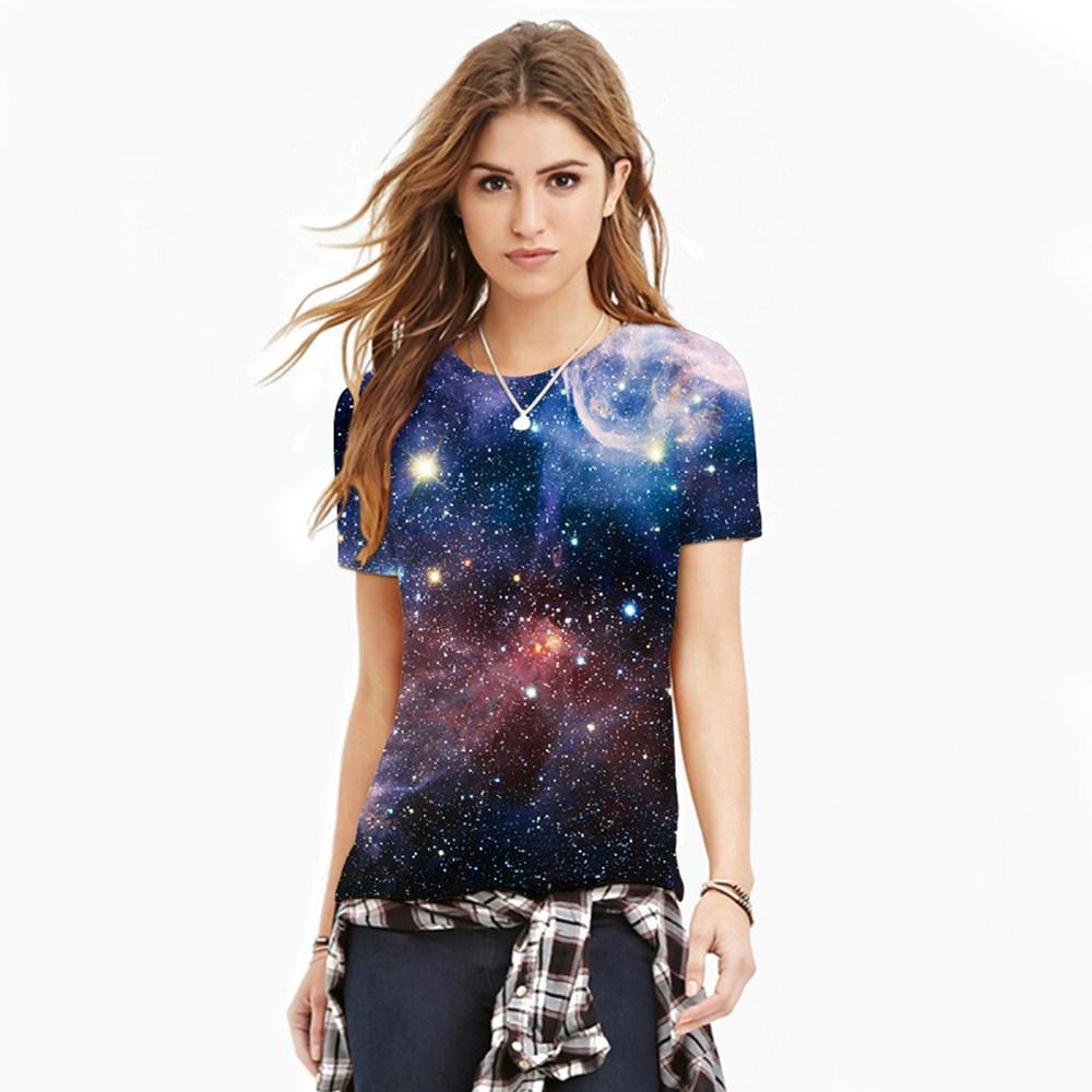 HTB13PHMQXXXXXbNXFXXq6xXFXXX7 - T-shirt blue sky digital print 3D short-sleeved women's shirt