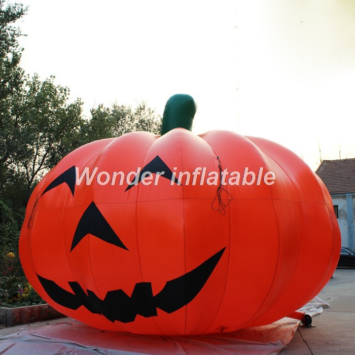 most popular 4m airblown halloween decoration giant inflatable pumpkin balloon for outdoor promotionchina - Outdoor Inflatable Halloween Decorations
