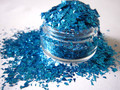 Solvent Resistant Blue Flake glitter nails