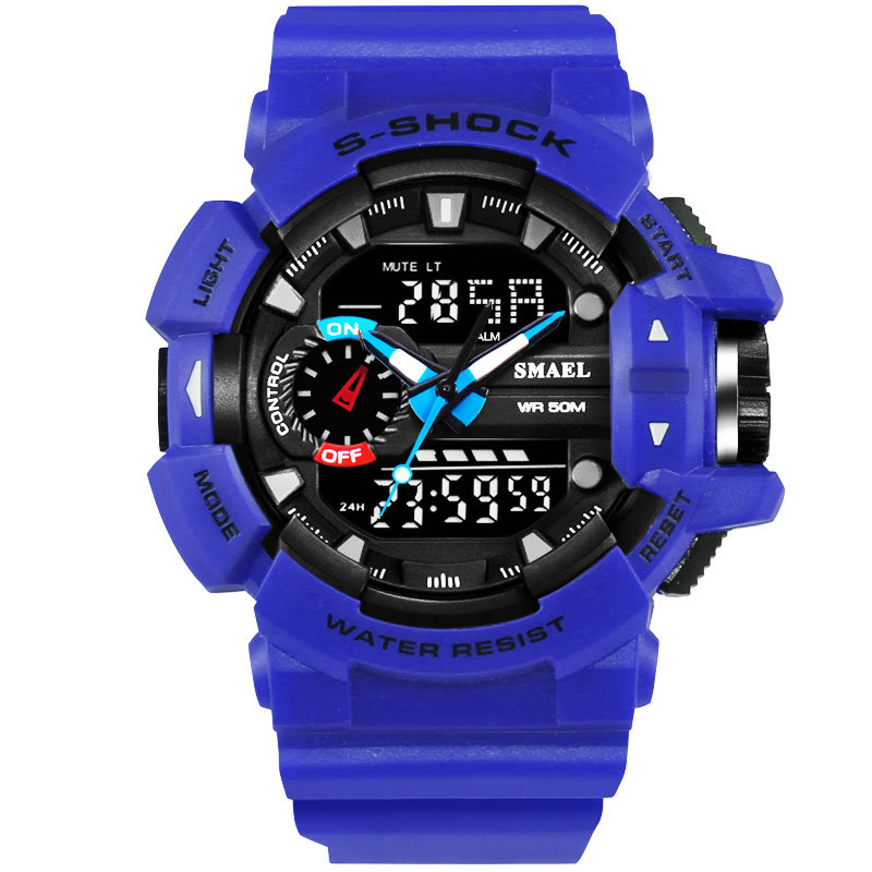 10 PCS Fashion S Shock Watches Men LED Digital Watch Quartz Hour Date Male Clock Mens Wristwatch 50m Waterproof Brand Watches