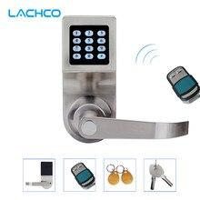 LACHCO скрывает ключ цифровой замок для клавиатуры дистанционное управление+ пароль+ карта+ ключ пружинный болт электронный автоматизированный замок L16086BSRM