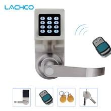 LACHCO Gizlemek Anahtar Dijital Tuş Takımı Kapı Kilidi Uzaktan Kumanda + Şifre + Kart + Anahtar Bahar Bolt Akıllı Elektronik Kilit L16086BSRM