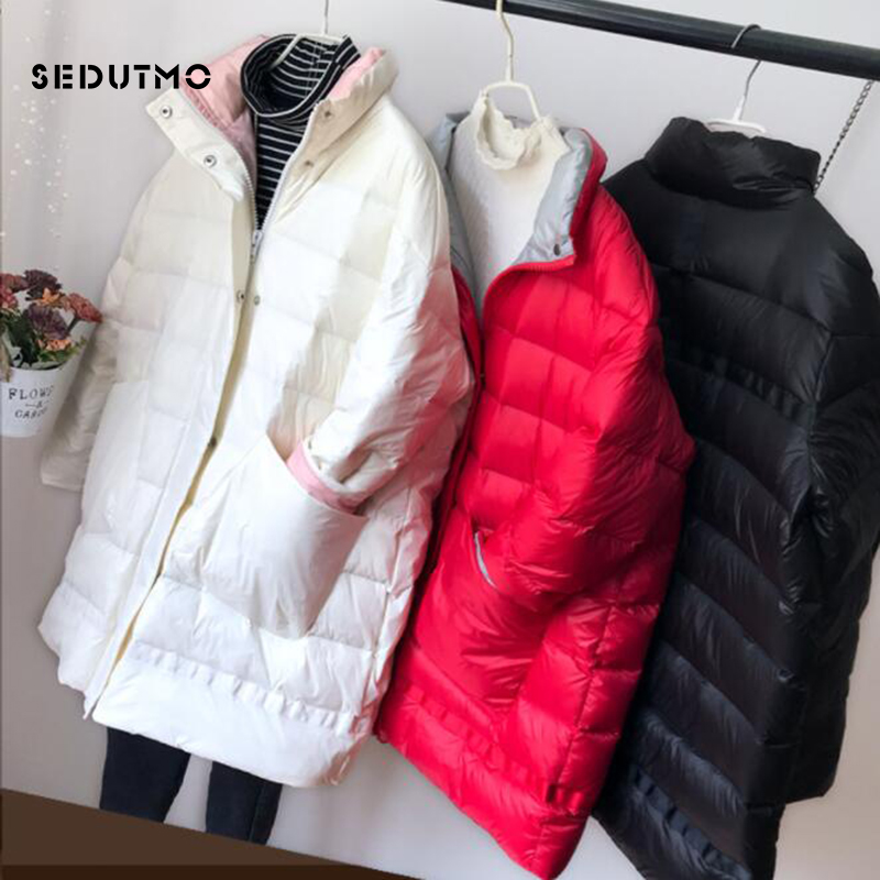 SEDUTMO Winter Long Duck   Down   Jackets Women Thick Warm Oversize   Coat   Autumn Slim Puffer Jacket ED833