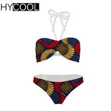 5dc501faec19 HYCOOL Swimwear Mulheres Maiô Impressão Biquínis Retro Africano das Mulheres  Terno de Natação Biquíni Brasileiro Sexy