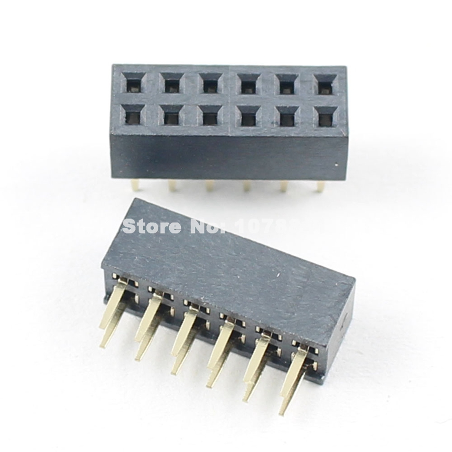 Nice 20pcs 2mm 2.0mm Pitch 2x6 Pin 12 Pin Female Dual Straight Header Strip H=4.3mm Reasonable Price Connectors Lights & Lighting