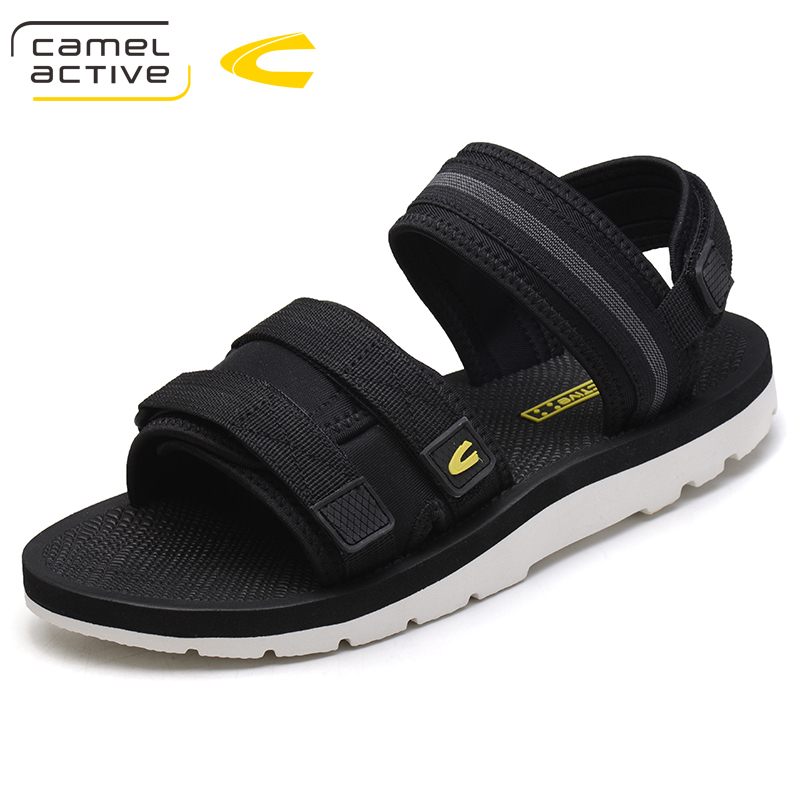 Camel Active 2018 New Fashion Summer Beach Breathable Men Sandals Brand Stretch Fabric Hook & Loop Man Casual Shoes 18092