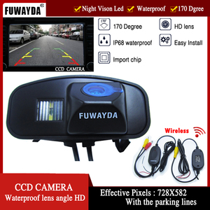 FUWAYDA wireless HD Transmitte & Receive video Reverse CCD car Camera Parking Assistance New LED For Honda CRV Odyddey Fit Jazz