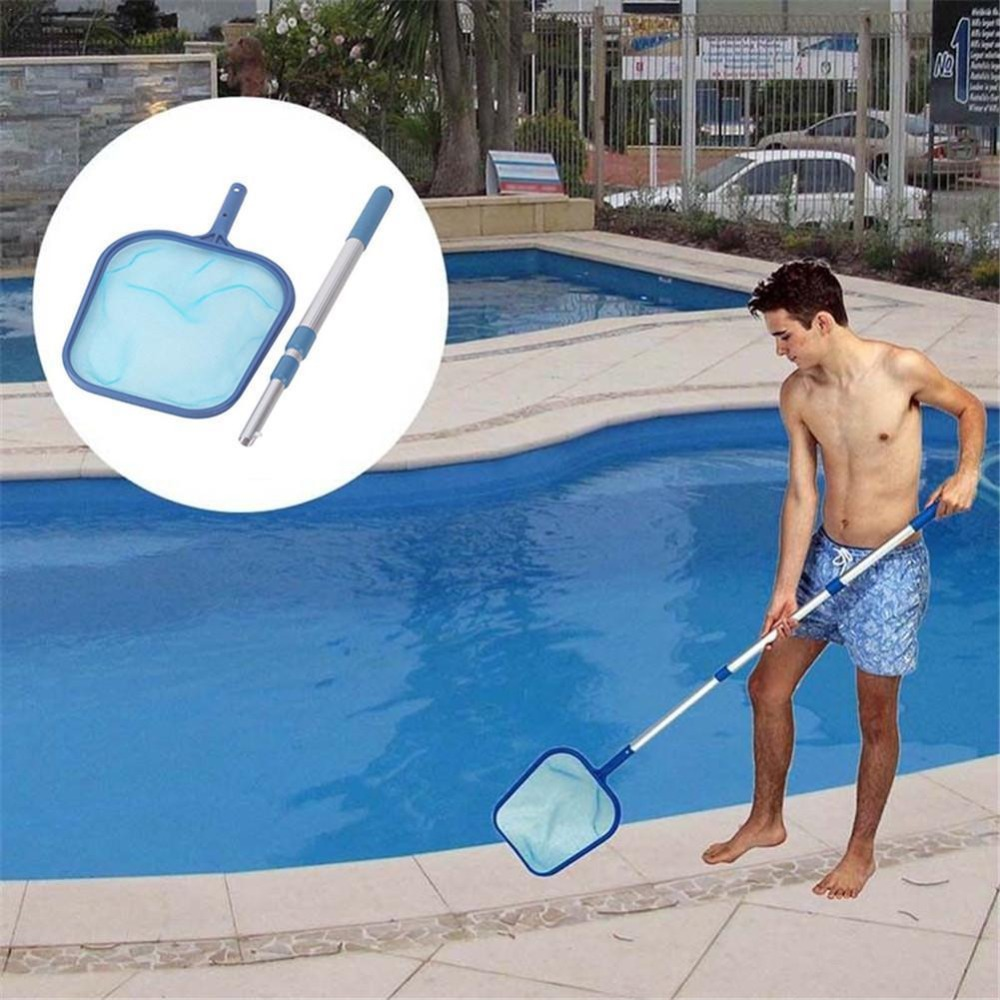 Swimming Pool Net Cleaning Leaf Skimmer Mesh Frame Net For Cleaning Swimming Pool With Rod Water Garbage Clean