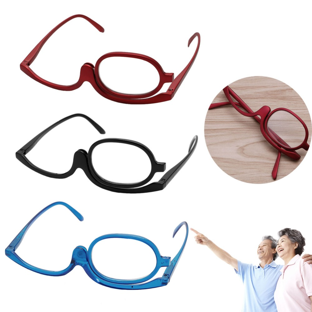 New Comfy Ultra Light Reading Glasses Presbyopia Magnifying Glasses Makeup Reading Glass Folding Eyeglasses Cosmetic General
