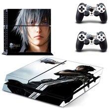 Final fantasy Para XV Etiqueta Piel Para Sony Playstation PS4 4 película de protección de La Consola PS4 y Cubierta Tatuajes De 2 controlador