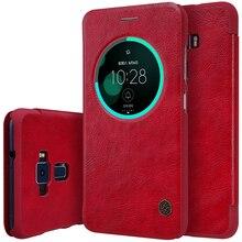 Кошелек кожаный чехол для ASUS Zenfone3 Оригинальный Nillkin Qin Series телефон Сумки Случаи для Zenfone 3 ZE552KL 5.5 дюйма