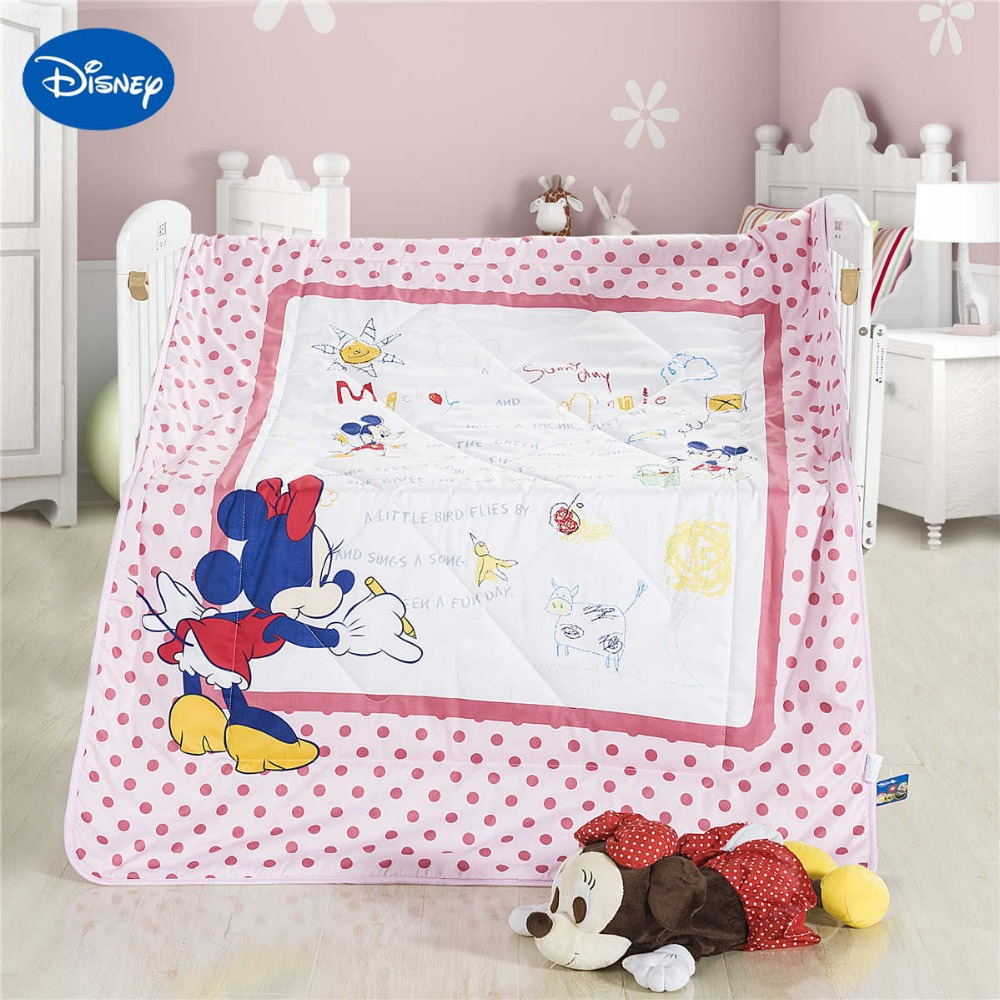 Bettwäsche Minnie Maus Us 59 99 Minnie Maus Zeichnung Sommer Quilts Bettdecken Disney Bettwäsche Baumwolle Wowen 120 150 Cm Kinderbett Mädchen Kinderbett Bed Decor Rosa