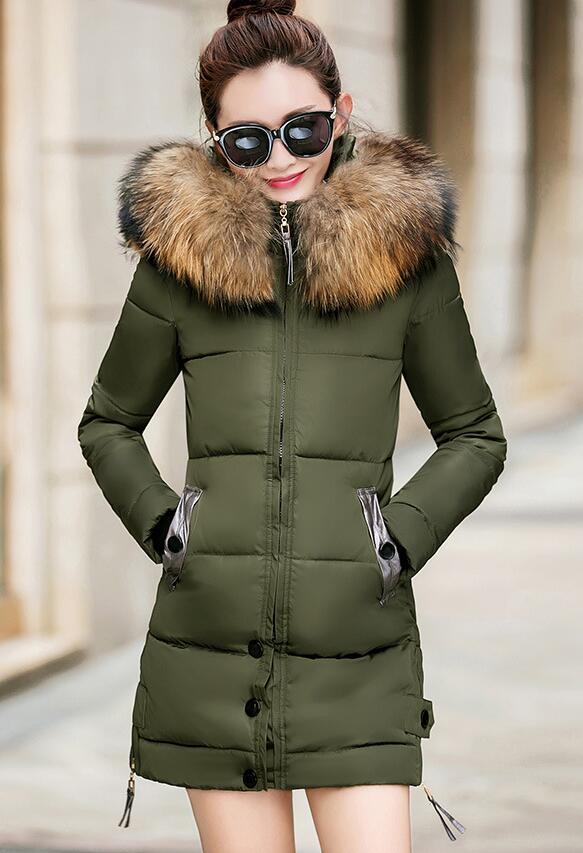 Manteaux Taille Femmes La rouge Parka Plus Hiver Nouveau D'hiver Noir Green Veste Ont kaki army Chapeau Long Un Manteau Survêtement jaune Coton Épais Femme TFJlcK1