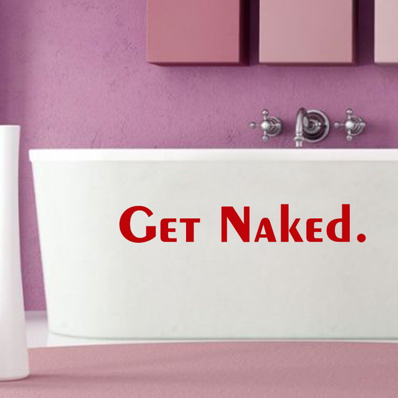 DCTOP Get Naked Bathtub Wall Stickers Waterproof Removable Vinyl Home Decor  Bathroom Tile Wall Decal( Part 95
