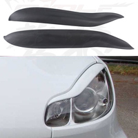 Smart FRP Car Styling Headlight Eyelid Eyebrows Cover Trim Sticker For Mercedes Benz 2009 2014
