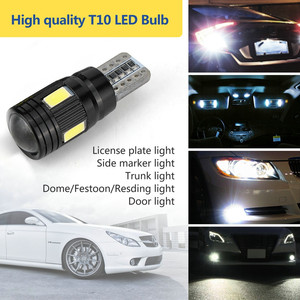 Image 5 - 2x LED Lamps For Cars White T10 5630 6SMD High Power Car Wedge License Plate LED Light Bulbs Width Lamps Reading Panel Lights