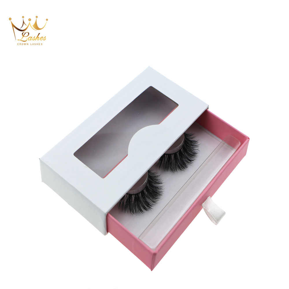 100 pairs Crown Lashes custom packaging box vendor private label cilios  logo empty lashes box wholesale