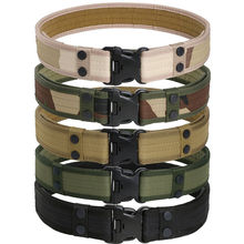 Tactical Belt Men's Military Belts Army Thicken Canvas Tactical Outdoor Waistband Adjustable Hunting Emergency Rigger Survival цена