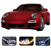60cm Changeable Colors DRL LED Bar Tube Strip Flexible Led Daytime Running Lights Car Styling Accessories