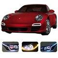 60 cm Mutável DRL LEVOU Tubo Bar Tira Flexível Levou luz de Circulação Diurna luz Car Styling Acessórios Para Ford BMW e46 e39 Toyota vw