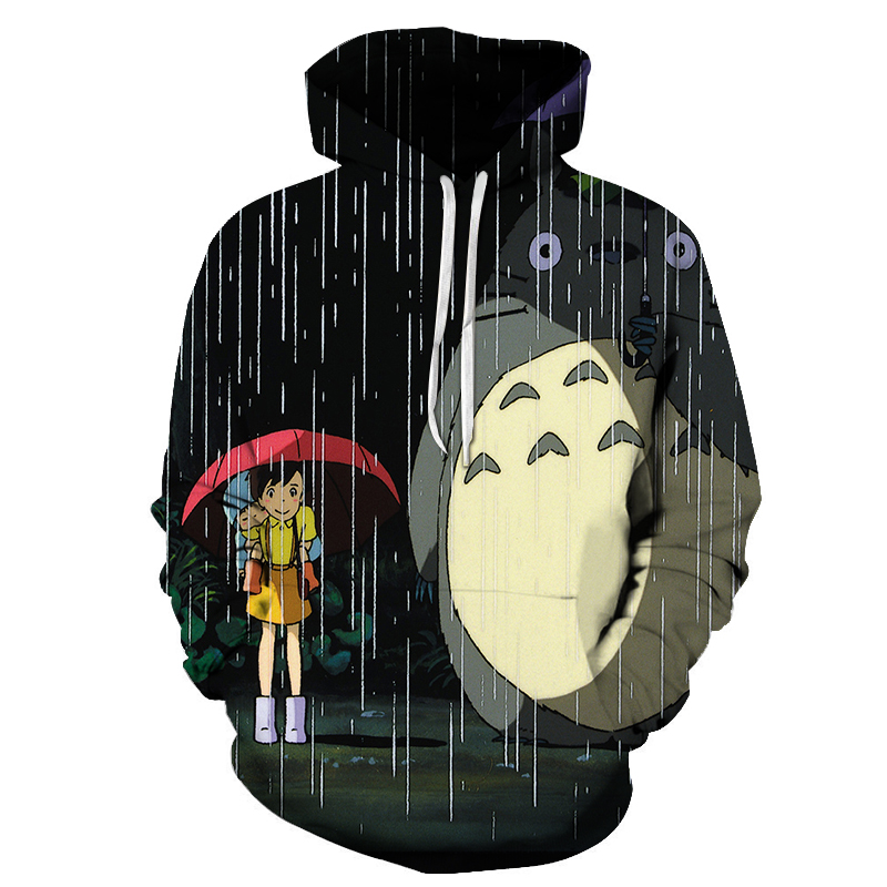 Totoro Hoodies Men Women 3D Sweatshirts Brand Unisex Hoodie Casual Pullover Fashion Hooded Tracksutis Novelty Streetwear Coat