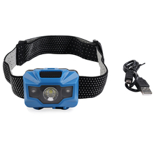PANYUE 10PCS 500LM XPE LED Mini Headlamp Headlight Outdoor Camping Flashlight Hunting USB Rechargeable Head Torch