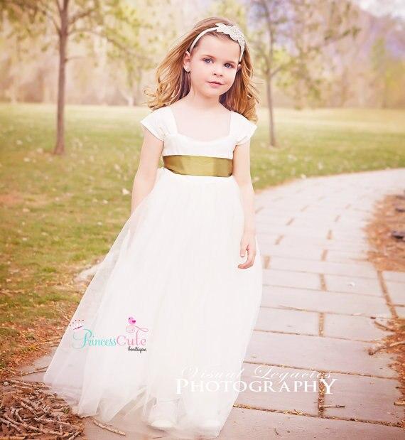 Ankle-Length Girls Bunga Dresses Untuk Pernikahan Gaun Tulle Gadis Gaun  Pesta Ulang Tahun Putri Ibu Gaun Panjang Untuk Anak Perempuan partai 8d495602e7