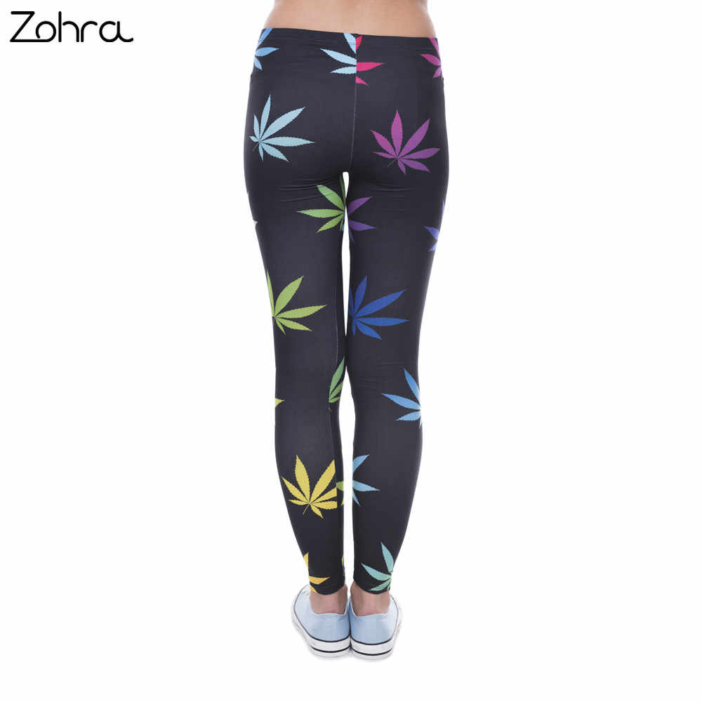 fa7bc069732064 ... Zohra New Arrival Legging Color Weeds Printed Leggins for Women Fashion  Leggings Sexy Slim Legins Women ...