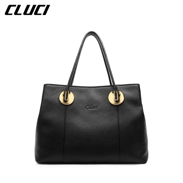579dc0424c3f CLUCI Women s Luxury Top-handle Handbags Genuine Leather Fashion High  Quality Tote Bags Female Brand