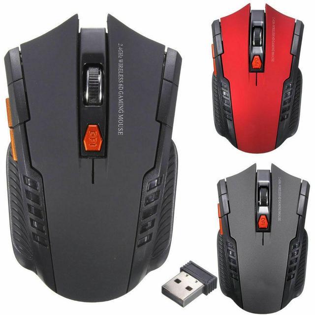 Mini ratón óptico inalámbrico para juegos, Mouse inalámbrico con receptor USB para Juegos de PC, portátiles, ordenador, r57, 2,4 GHz 1