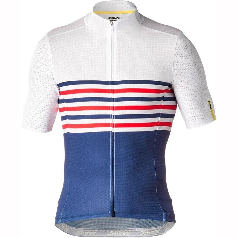 Cycling Shirt Tops Short-Sleeve Mavic Breathable Summer White Men MTB Roupa-Ciclismo