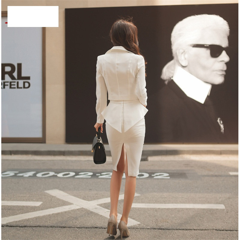Qiqi-2-Piece-Set-Women-2016-Winter-White-black-double-breasted-Business-Flouncing-Slim-Crop-Top (2)