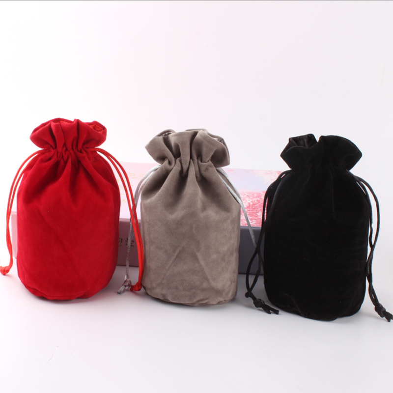 TOP Quality Velvet Dice Bag Jewelry Packing Drawstring Pouches for Packing Gift  Bag Board Game fake rose flowers