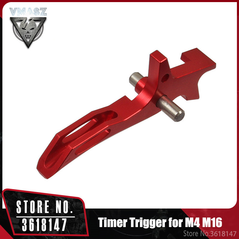 VMASZ Airsoft CNC Aluminum Timer Trigger For M4 M16 Series Tactical Hunting Internal Parts IPSC Competitive Paintball Game