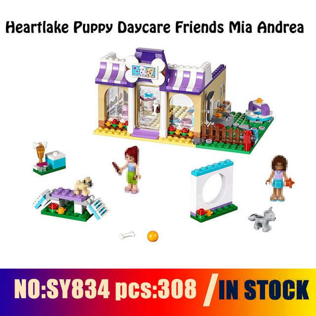 Compatible With 41124 Models Building Sy834 308pcs Heartlake Puppy