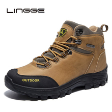 LINGGE New Men Ankle Boots Fashion Autumn Winter Top Brand Lace Up Sneakers Footwear Casual Big SIze 39-46
