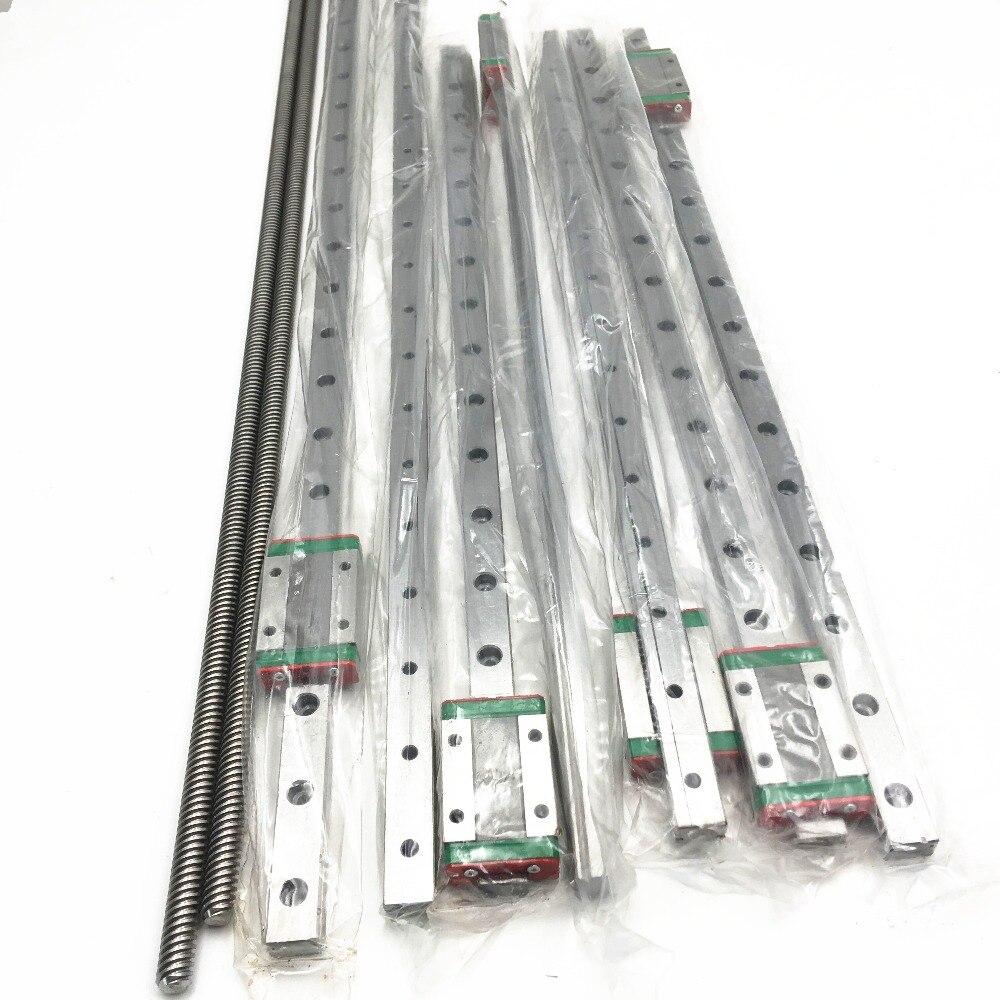 1 Set BLV mgn Rails kit 700 MM/400mm mgn12H linéaire rails 2 pièces T8 Lea vis 700 MM Pour bricolage Anet E12 et Cr-103D Imprimante