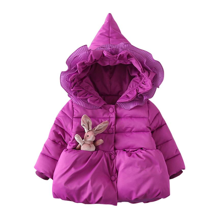 Baby Parkas 2017 Baby Toddler Girls Autumn Winter Hooded Coat Cloak Jacket Thick Warm Clothes D40+ muqgew 2017 hot sale newborn baby boys girls clothes autumn winter long sleeve hooded coat cloak thick warm clothes kid costume