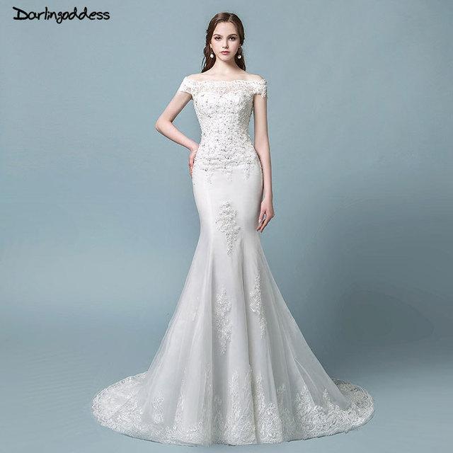 bata de mariage vintage encaje sirena vestido de novia 2018 manga