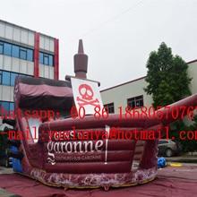 Китай, Гуанчжоу) надувные горки, надувная игра, надувной пиратский корабль замок с горкой BYSW-14365