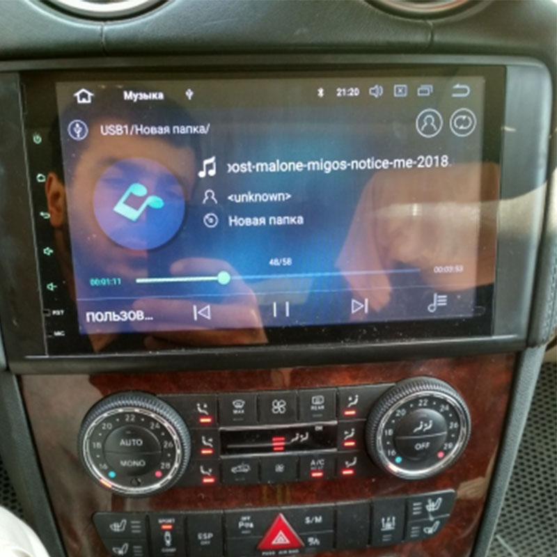 2din Rádio Do Carro do gps do Android 9.0 NO-DVD Multimedia Player para Mercedes Benz ML GL W164 ML300 X164 GL320 350 420 450 500 R W251280