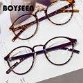 BOYSEEN модные ретро круглые очки оправа для мужчин и женщин Оптические очки для близорукости оправа для компьютера оптические очки 066