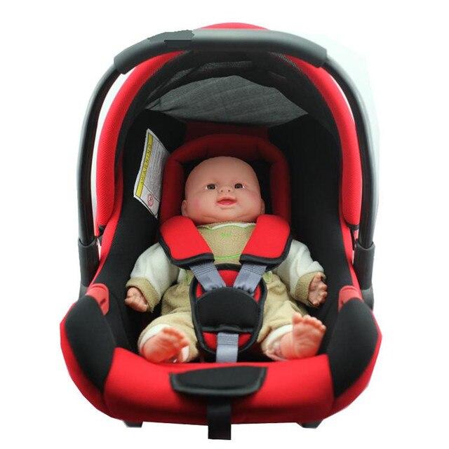 Детские баскет-стиль безопасности автокресло новорожденных младенцев ребенок портативный автомобильный держатель вагонов