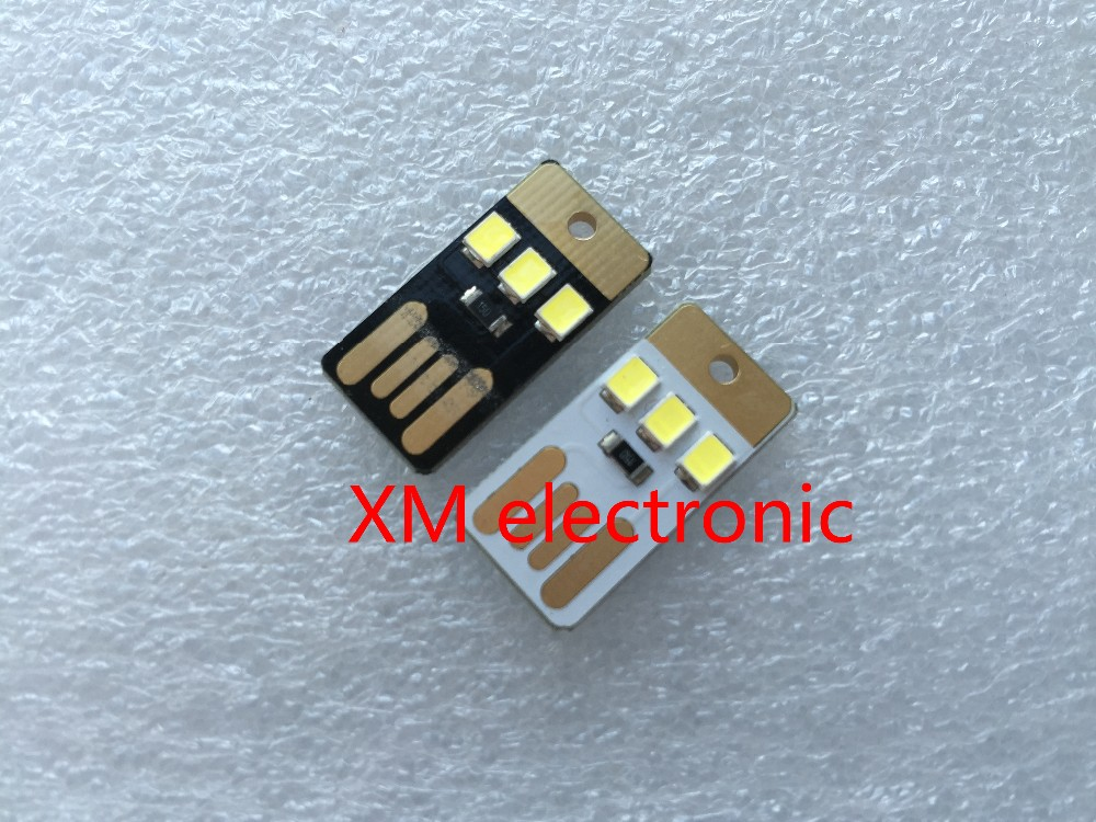 Black Led Lamp Bulb Keychain Pocket Card Mini Led Night Light Portable Usb Power Active Components
