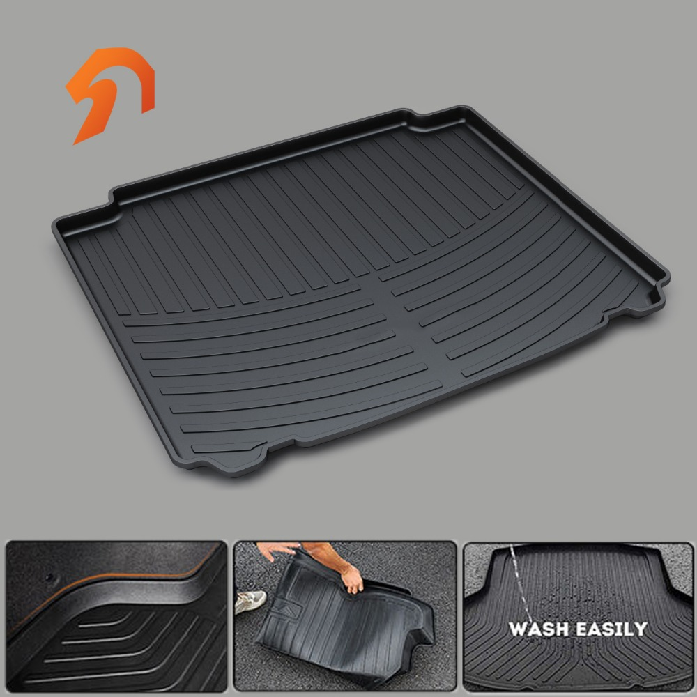 Rubber trunk mat for PEUGEOT 407 408 508 2008 3008 4008 2012 2013 2014 2015 2016 BOOT LINER REAR TRUNK CARGO MATS TRAY CARPET free shipping car trunk mat cargo mat for jeep compass mk49 2011 2012 2013 2014 2015 2016