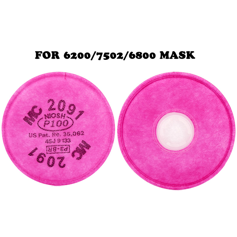 New 2-4pcs/pack 2091 P100 Cotton Filters Replaceable Dust Filters For 6200/7502/6800 Dust Mask Accessories