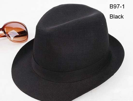 Promotion Cheap Classic Women Men Black Trilby Hats Fedoras Top Dress Hat Designer  Ladies Girls Boy Fashion Fedora Hats Caps