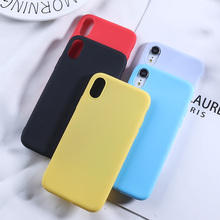 Candy Color TPU Case For iPhone X XR XS MAX 7 8 Plus Luxury Rubber Silicone Cover Mobile IPhone 6